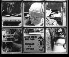 Sandy Olson in his gasket shop