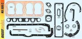 Ford Model A Gasket Set, V800, 509C, 509G, Felpro 7013C, McCord 5571, Fitz 800