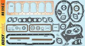 Chrysler DeSoto 6 cylinder 1937-54 V970, V1029, V1061, Felpro 7256, McCord 6210, Fitz 0422