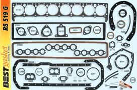 Buick 8 cylinder 60, 70, 80, 90 Series Gasket Set, Victor V1009, V1032, V1052, Best 519G