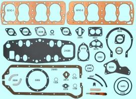 Ford / Mercury V8 1949-53, 8BA, 8CM Standard Bore, Victor V1040, V1041, V1044, V1045, V1084, V1085, Felpro 7525, 7526, McCord 6244R, 6244L, Fitz 0495, 0496, Ford# 8BA-6051, 8BA-6083, EAB-6051B, EAB-6083B, 8CM-6051, 8CM-6083