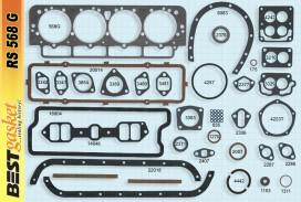 Victor FS1043, FS1083, Best RS568, Felpro FS7673PT2
