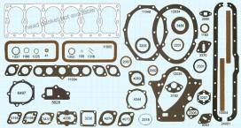 Dodge / Plymouth 6 cylinder 1933-34 Gasket Set, Victor V886, McCord 5766 Mopar# 602539, Fitz 1293